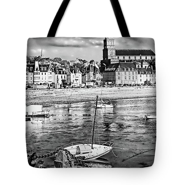 Tote Bag featuring the photograph Saint Servan Anse by Elf Evans