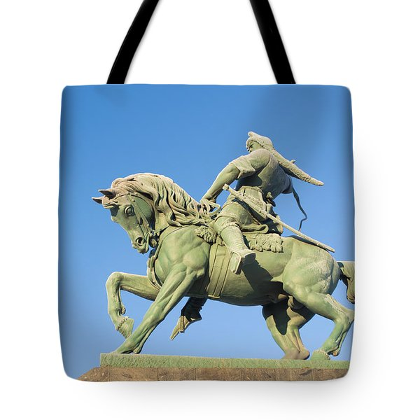 Tote Bag featuring the photograph Salavat Yulaev Ufa Russian Hero by John Williams