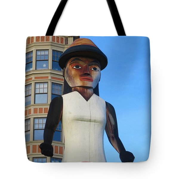 Salish Woman Tote Bag by Martin Cline