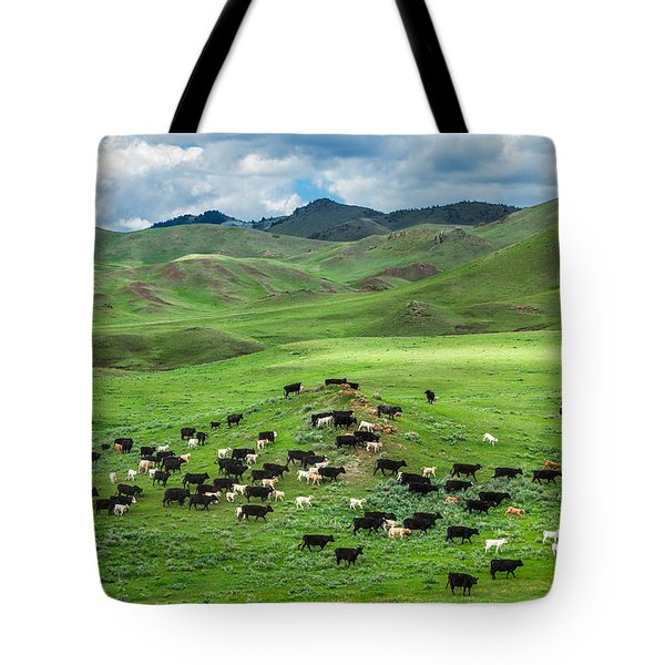 Salt And Pepper Pasture Tote Bag by Todd Klassy
