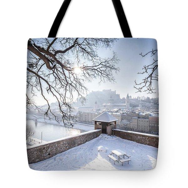 Salzburg Winter Dreams Tote Bag by JR Photography