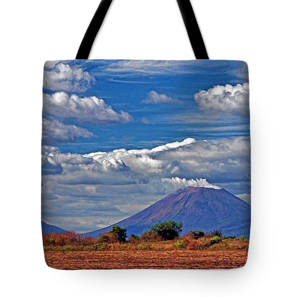 San Cristobal Volcano Tote Bag by Dennis Cox WorldViews