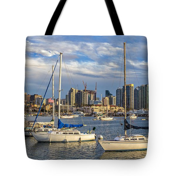 San Diego Harbor Tote Bag by Peter Tellone