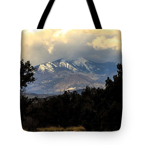 San Francisco Mountains Tote Bag