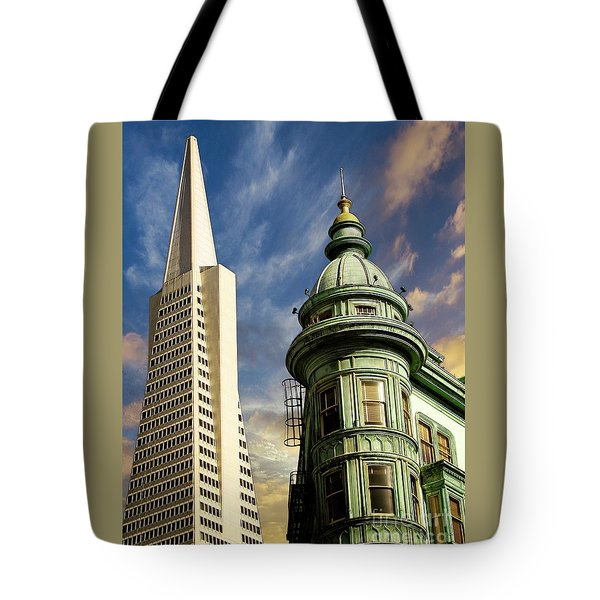 San Francisco Then And Now Tote Bag