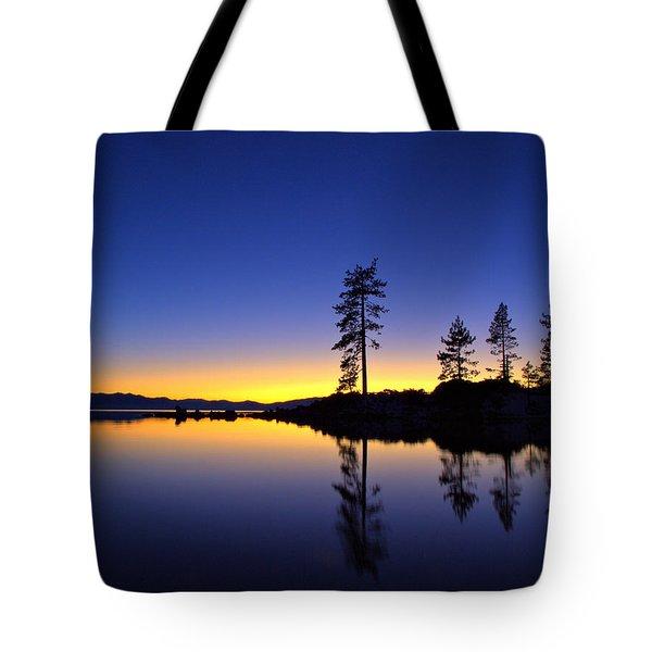 Sand Harbor Sunset Tote Bag