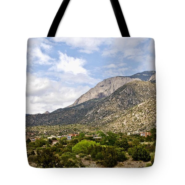 Tote Bag featuring the photograph Sandia Mountains by Gina Savage