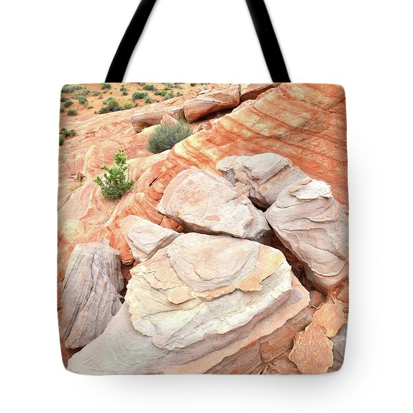 Tote Bag featuring the photograph Sandstone Cove In Valley Of Fire by Ray Mathis