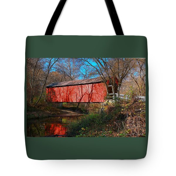 Sandy /creek Covered Bridge, Missouri Tote Bag by Steve Warnstaff