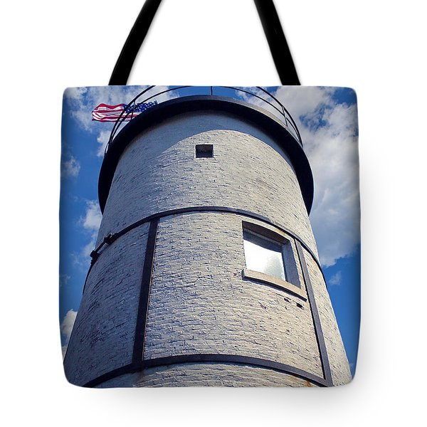 Sandy Neck Lighthouse Tote Bag by Charles Harden