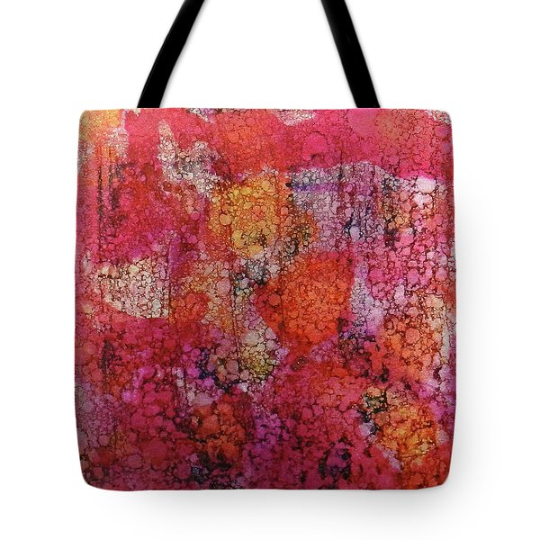 Tote Bag featuring the painting Sangria Ink #16 by Sarajane Helm