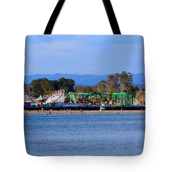 Santa Cruz Boardwalk Tote Bag