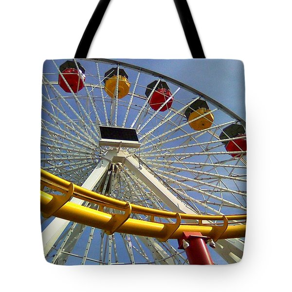Santa Monica Pier Amusement Park Tote Bag