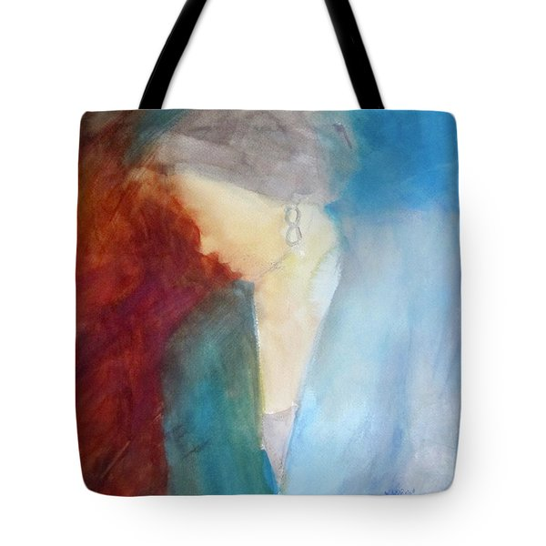 Sarah's Blue Suit Tote Bag