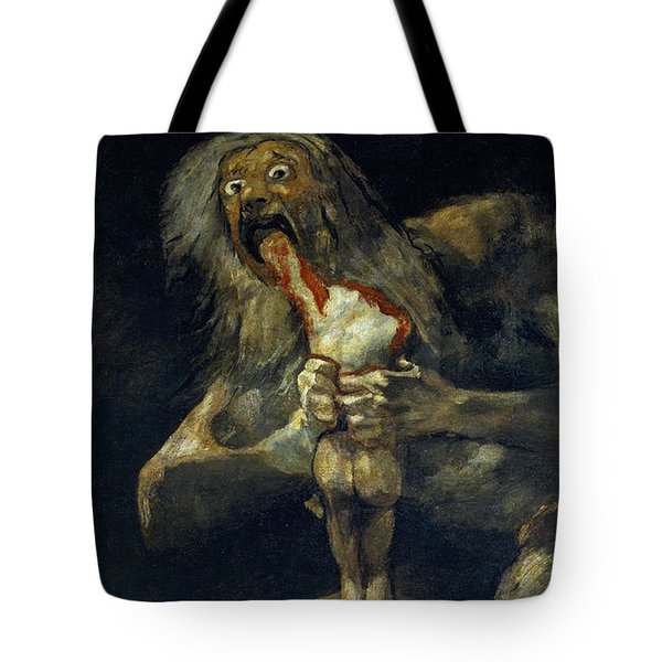 Saturn Devouring His Son Tote Bag by Francisco Goya