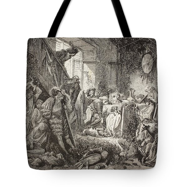 Scene From Sleeping Beauty By Charles Tote Bag