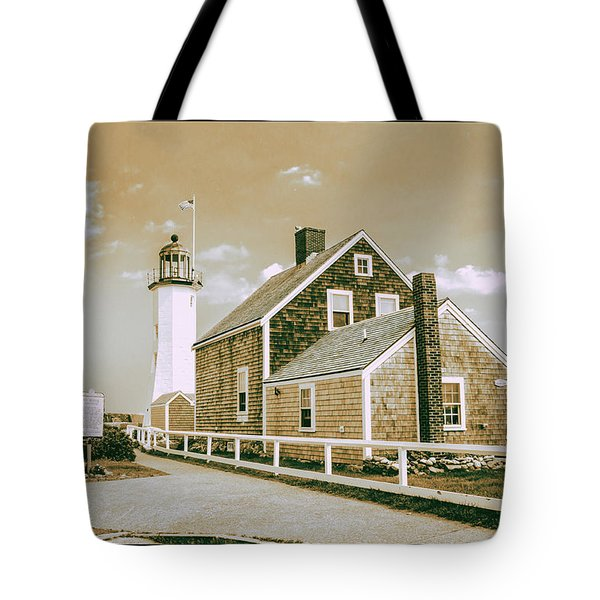 Scituate Lighthouse In Scituate, Ma Tote Bag