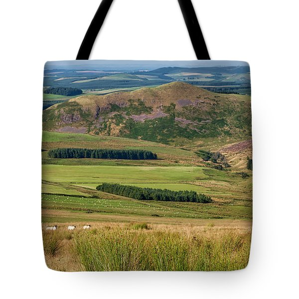 Scotland View From The English Borders Tote Bag by Jeremy Lavender Photography