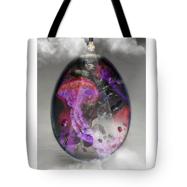 Sea Creature Jellyfish Art Tote Bag