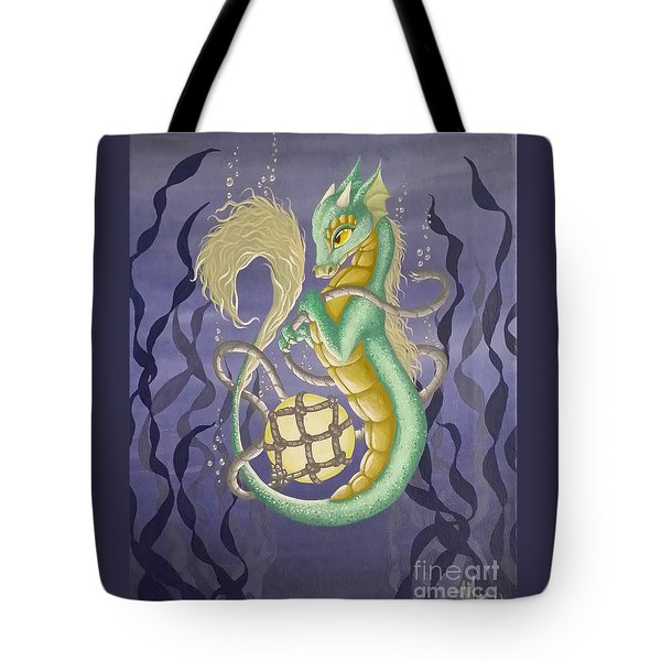 Tote Bag featuring the painting Sea Dragon II by Mary Hoy