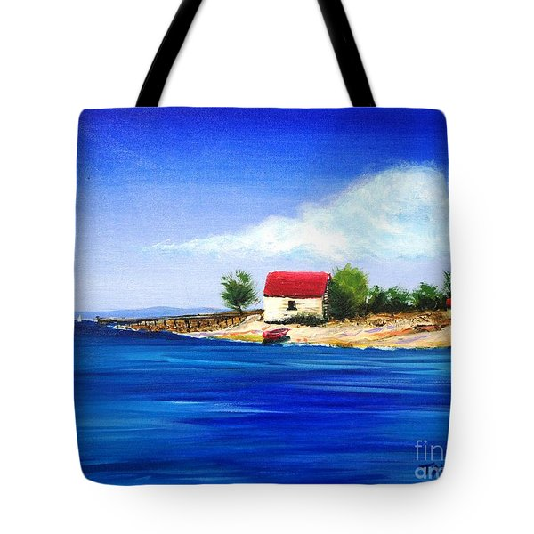 Sea Hill Boatshed - Original Sold Tote Bag