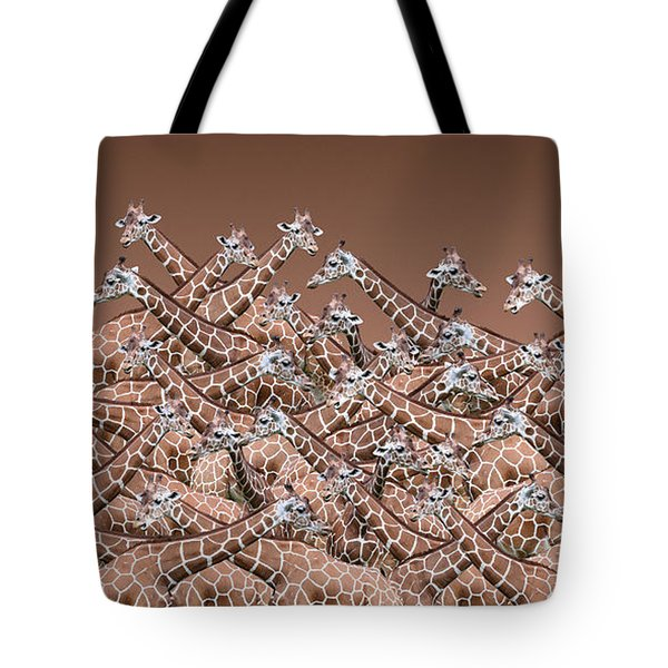 Sea Of Giraffes Tote Bag