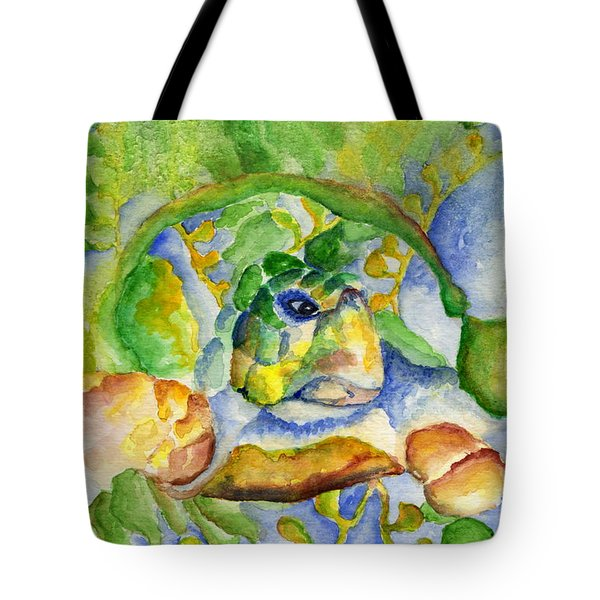 Sea Turtle Hideaway Tote Bag