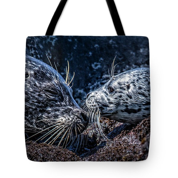 Seal Pup With Mom Tote Bag