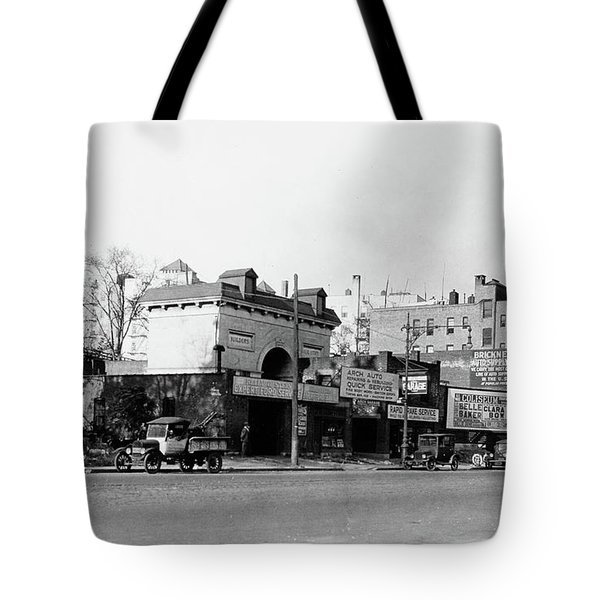 Tote Bag featuring the photograph Seaman Drake Arch  by Cole Thompson