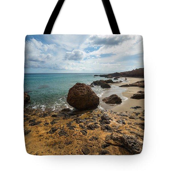 Seascape In Crete Tote Bag