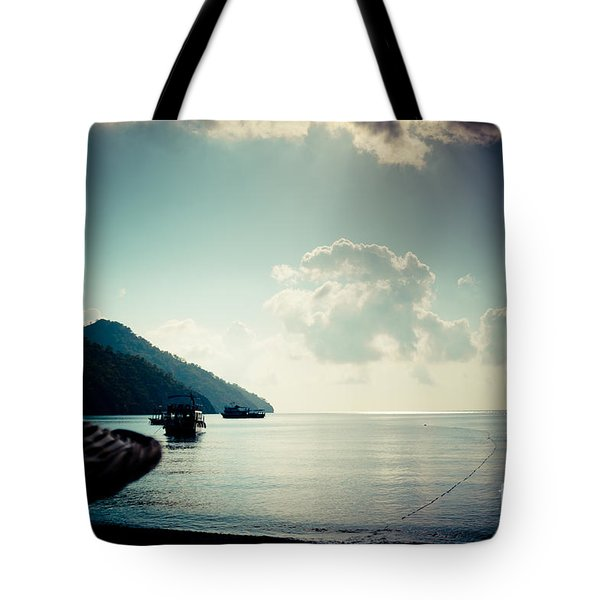Seascape Sunrise Sea And Clouds  Tote Bag