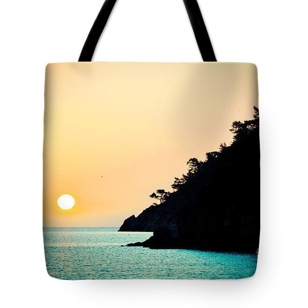 Seascape Sunrise Sea And Sun Tote Bag