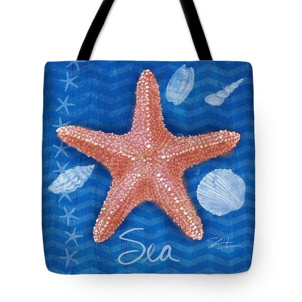 Seashells On Blue-sea Tote Bag