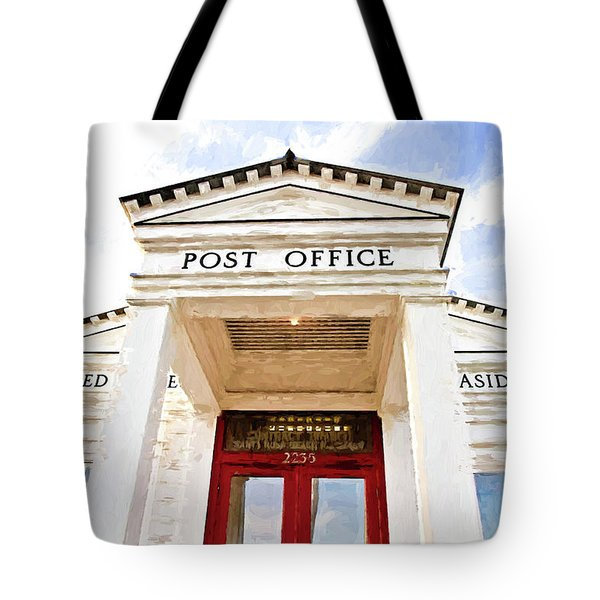 Seaside Post Office Tote Bag by Scott Pellegrin