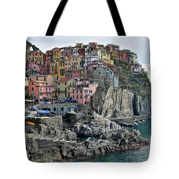 Tote Bag featuring the photograph Seaside Village by Frozen in Time Fine Art Photography