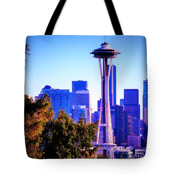 Seattle Afternoon Tote Bag by Martin Cline