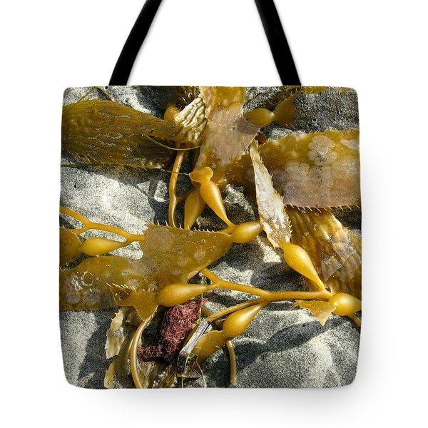Seaweed On Sand Tote Bag