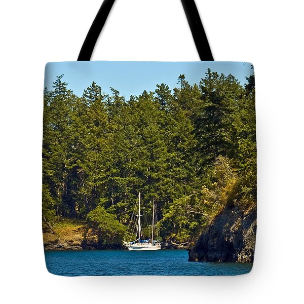 Secluded Anchorage Tote Bag