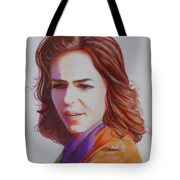 Tote Bag featuring the painting Self-portrait by Constance DRESCHER