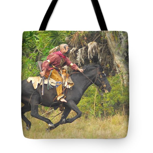 Seminole Indian Warrior Tote Bag