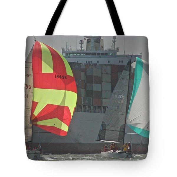 Sf Bay Traffic Tote Bag