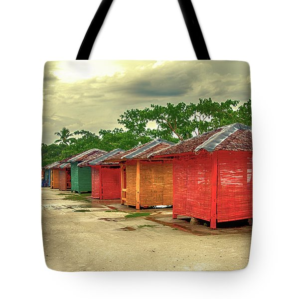 Tote Bag featuring the photograph Shacks by Charuhas Images