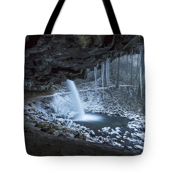 Sheltered From The Blizzard Signed Tote Bag