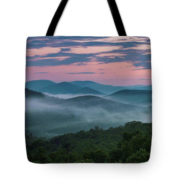 Tote Bag featuring the photograph Shenandoah Sunrise by Kevin Blackburn
