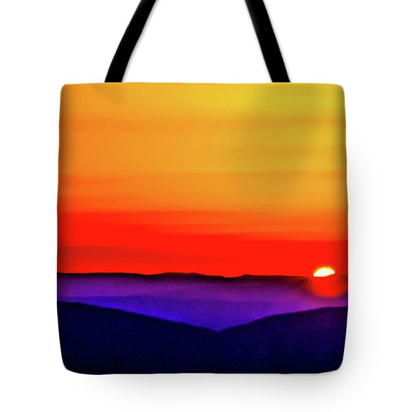 Tote Bag featuring the photograph Shenandoah Valley Sunset by Louis Dallara