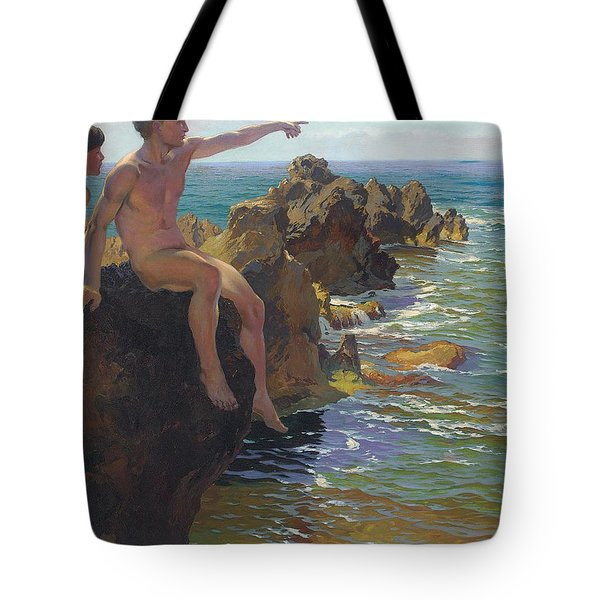 Ship Ahoy Tote Bag by Paul Von Spaun