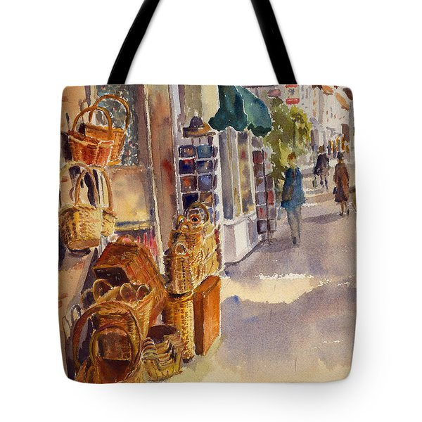 Tote Bag featuring the painting Shopping In Tenterden by Beatrice Cloake