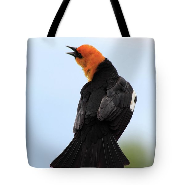 Tote Bag featuring the photograph Showing Off by Shane Bechler