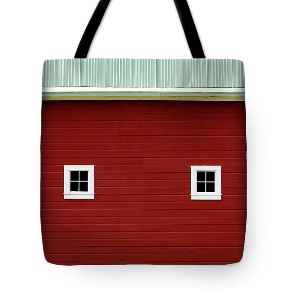 Side Of A Big Red Barn In The Palouse Tote Bag