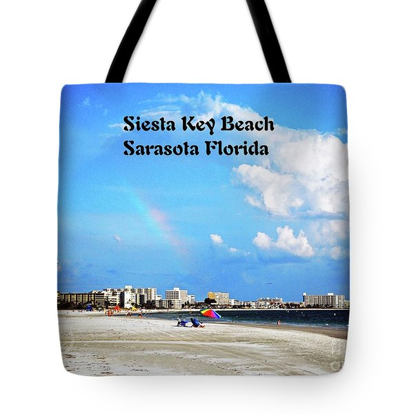 Siesta Beach Tote Bag by Gary Wonning